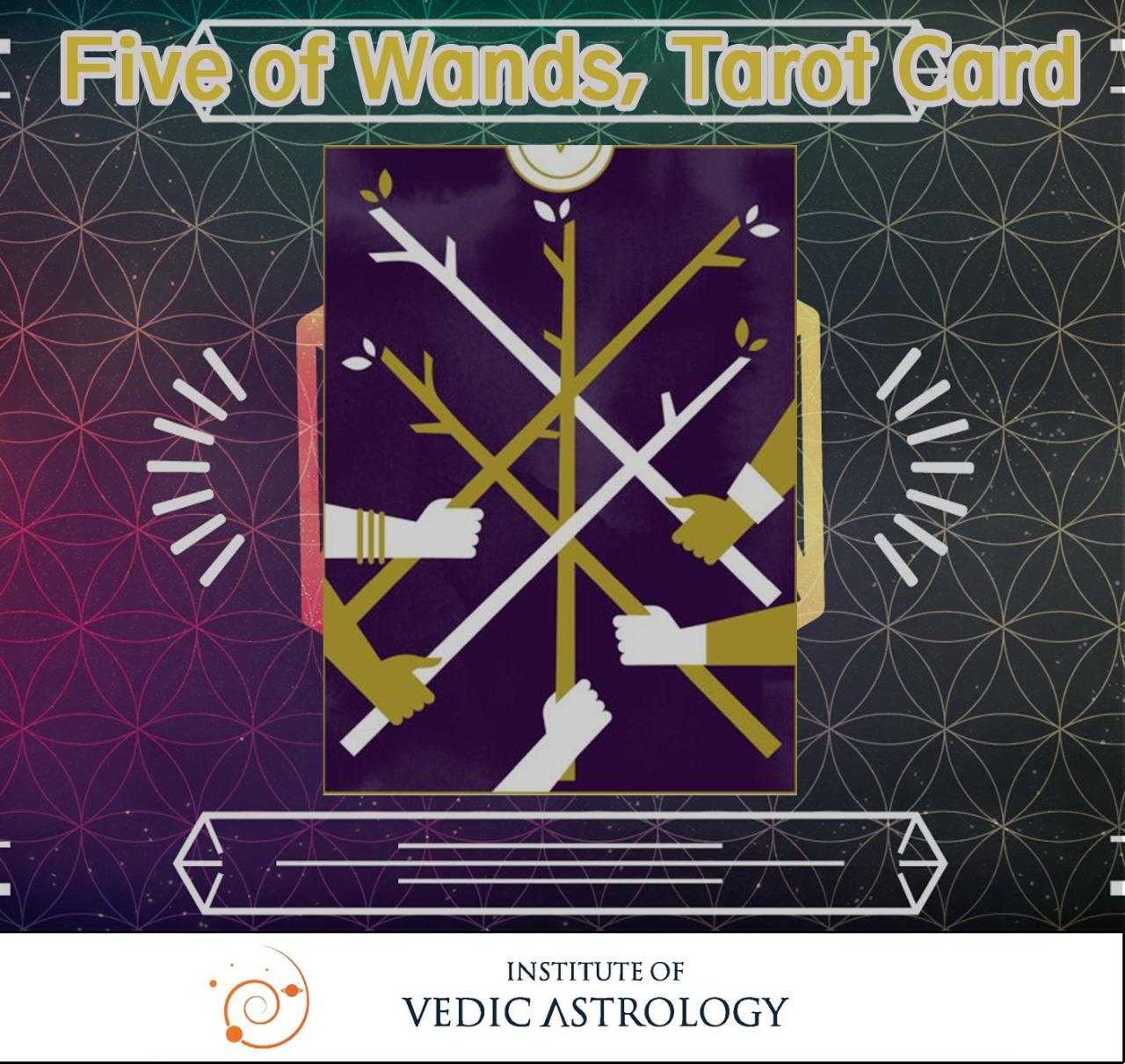 Five of Wands, Tarot Card-